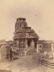 General view from the south-east of the Yameshvara Temple, Bhubaneshwar